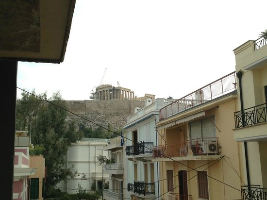 Acropolis View Hotel: View from the balcony, 2nd floor