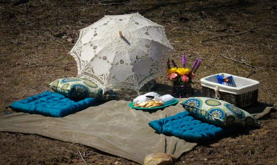 Cullowhee, Karolina Pnocna: The picnic set up