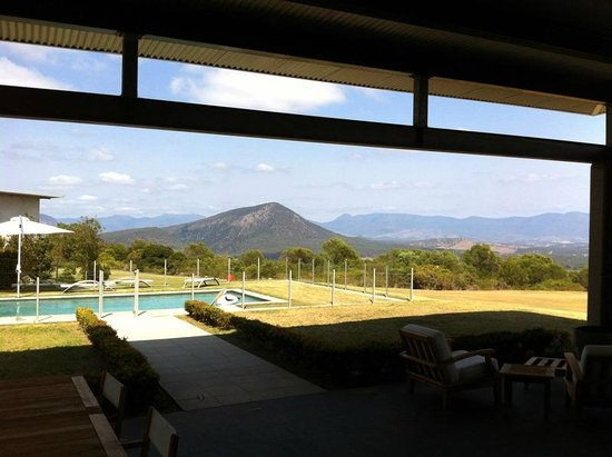 Boonah, Australia: View from Great Room across the valley