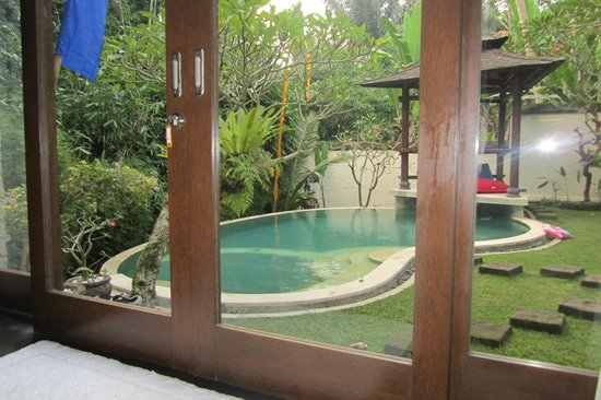 Villa di Abing: view from the bamboo suite