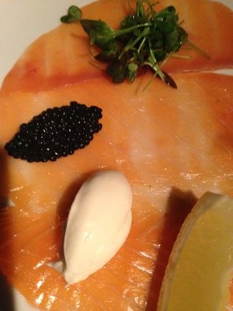 Guillaume at Bennelong: In house Smoked Salmon