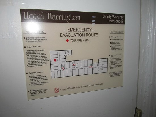 Harrington Hotel: Hotel diagram with location of room 602 indicated by red dot