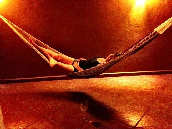 Luz En Yucatan: Hammock on the patio.