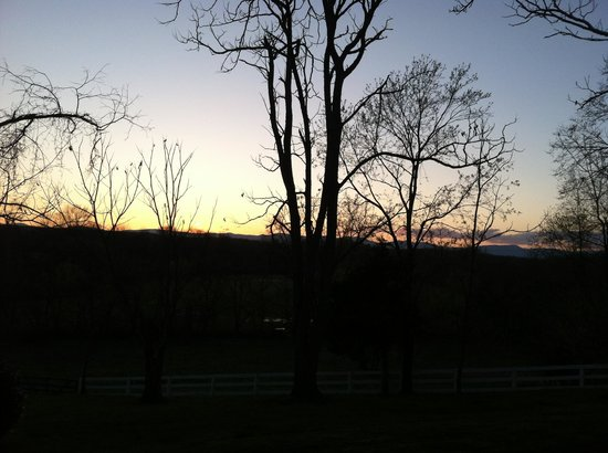 Inn at Meander Plantation: Sunset off our patio