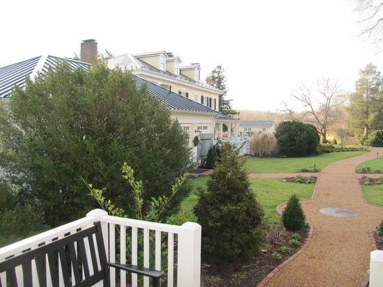 The Inn at Willow Grove: View from private cabin to main hotel.