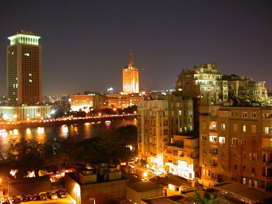 Cairo Marriott Hotel &amp; Omar Khayyam Casino: night view from the room