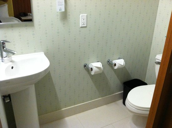 SpringHill Suites Atlanta Airport Gateway: Separate toilet--there&#39;s a regular sink in the shower room