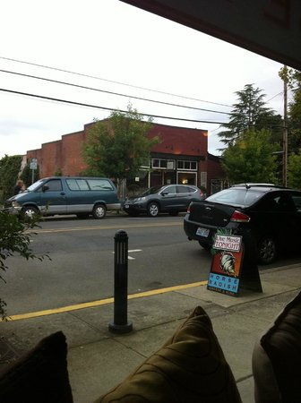 Carlton, Oregon: View from our table