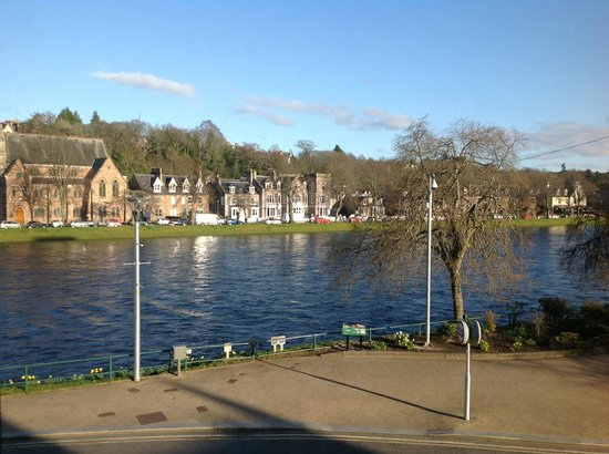 Strathness House: River Ness from window of Room 6