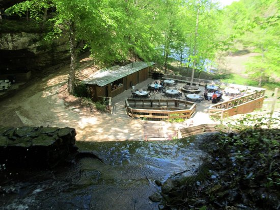 Tuscumbia, AL: Rattlesnake Saloon deck from above saloon