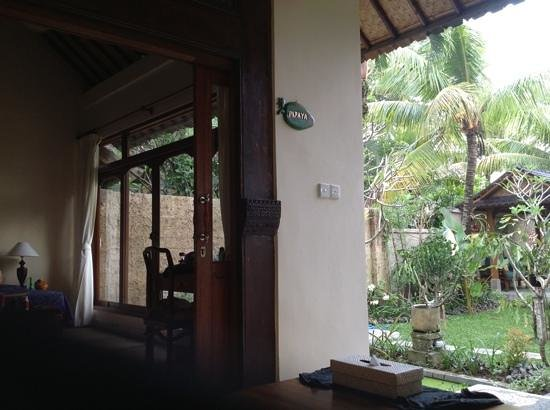 Alam Indah: The lovely papaya room...outside and in...