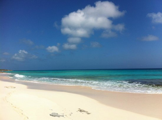 Great Guana Cay: Ocean-side beach