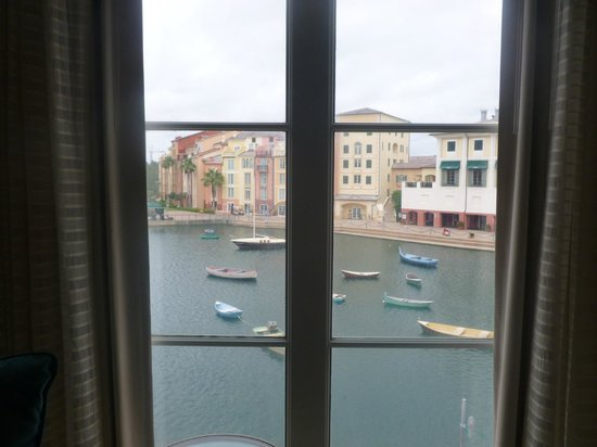 Loews Portofino Bay Hotel at Universal Orlando: room view of harbor