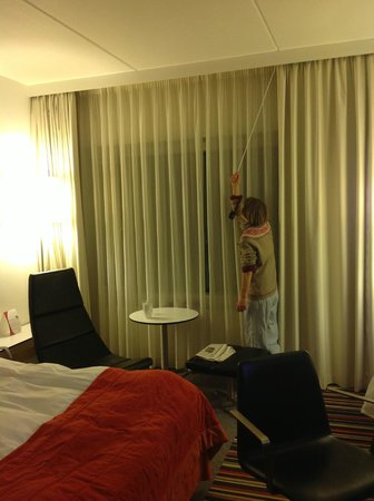 Crowne Plaza Copenhagen Towers: King Deluxe- Arrival (Pulling the Curtains)