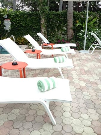Almond Tree Inn: lounge chairs by the pool
