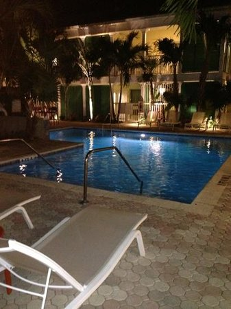 Almond Tree Inn: the pool at night
