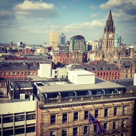 Radisson Blu Edwardian Manchester: view from our 12th floor room