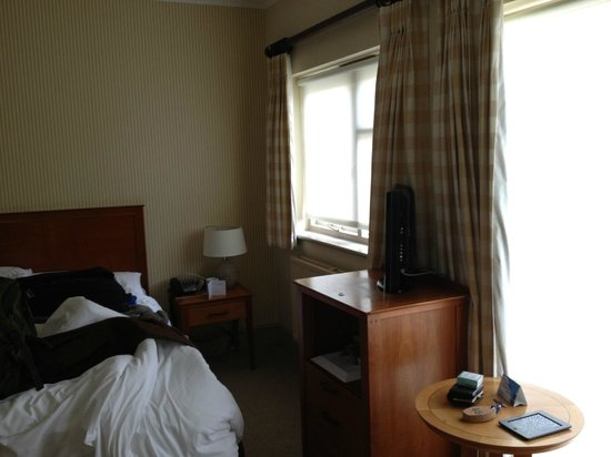 The Swan Hotel: Small room, small TV