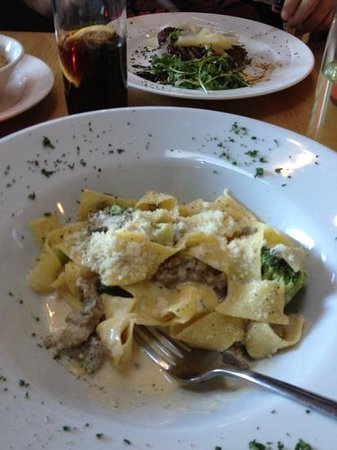 Westhill, UK: pasta with broccoli and Gorgonzola