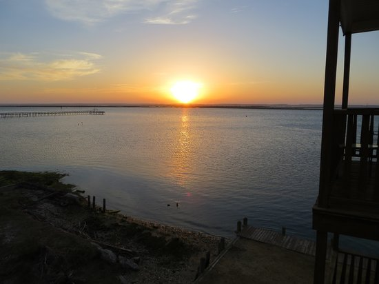 Waterside Inn: sunset from balcony