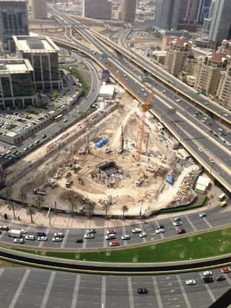 The Address Dubai Mall: Noisy construction across the street