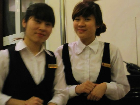 Hanoi City Palace Hotel: Our beautiful morning servers, Muoi and Hoa