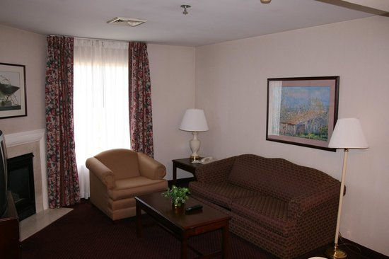 Hampton Inn and Suites Bethlehem: Suite Living Area