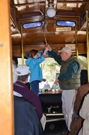Wadmalaw Island, SC: Ringing the trolley bell