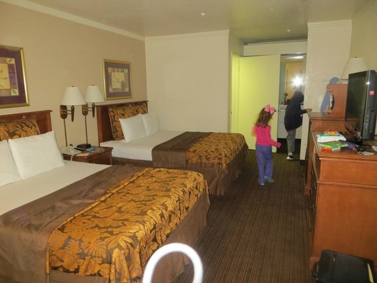 Anaheim Desert Inn and Suites: One side of our B Family Suite (other was exactly the same)