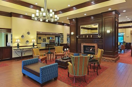 Hampton Inn &amp; Suites Asheville Airport : Our all-new fireside lobby 