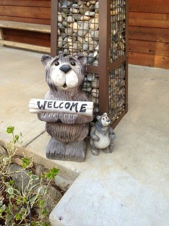 Arnold Black Bear Inn: Adorable Welcome Bear
