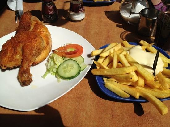 Voorburg, The Netherlands: chicken and fries
