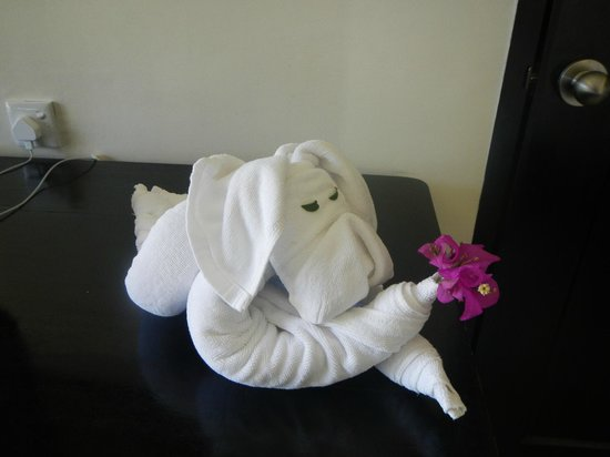 Nirwana Gardens - Nirwana Beach Club: The towel animals