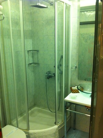 Hotel Niles Istanbul: Shower in 506