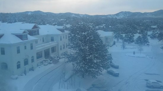Stanley Hotel: View of Lodge and Music Hall from Room 428