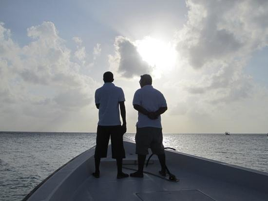 Baros Maldives: off on a fishing trip