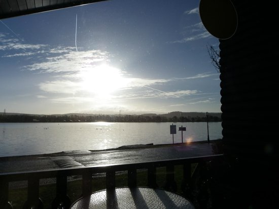 Carnforth, UK: View across the lake