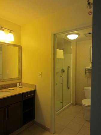 Residence Inn Chicago Downtown / River North : Bathroom - Toilet/Shower closes off from sink area