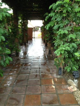 Hotel California: Lush walkways and gated grounds