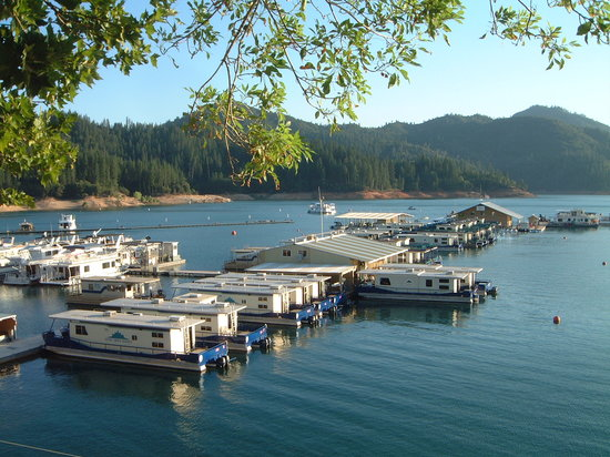 View of the marina and houseboat rentals picture of for Houseboats for rent in california