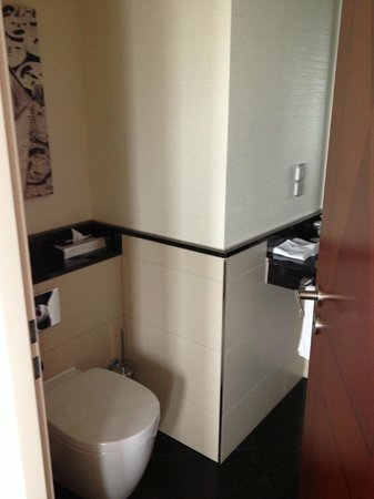 Berlin Marriott Hotel: Tiny bathroom
