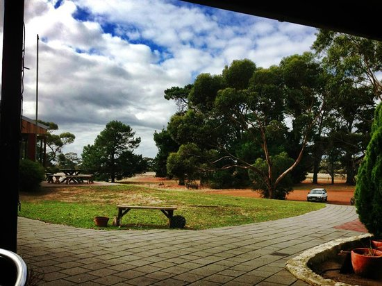 Seddon, Australia: the view from the restaurant