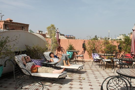 Riad Nesma: roof terrace