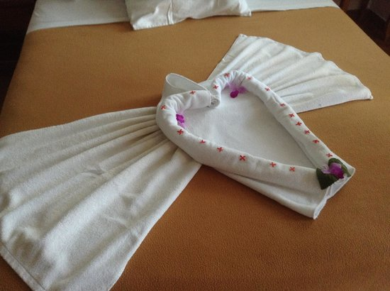 Hotel San Bosco : they make the towels look so pretty