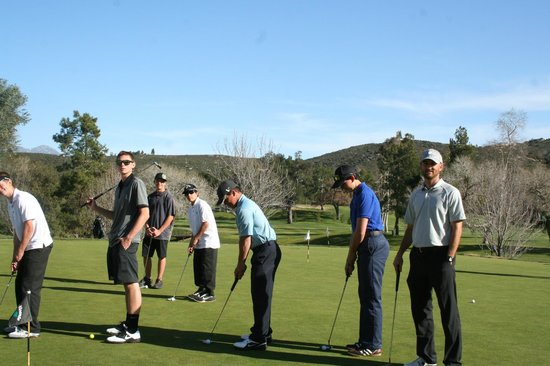 Ramona High School Golf teams plays on San Vicente Golf Course.