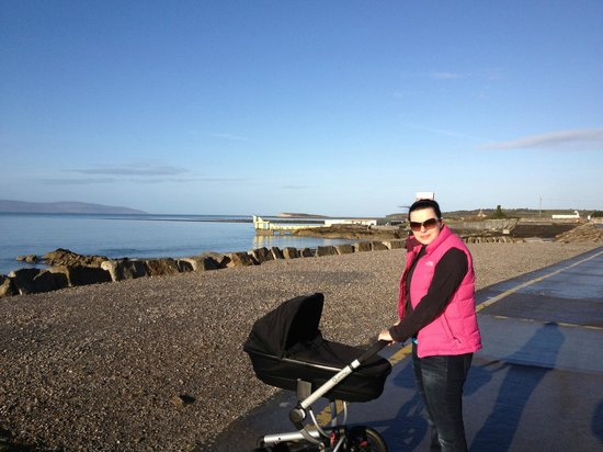 The Salthill Hotel: This is the promenade outside the hotel..