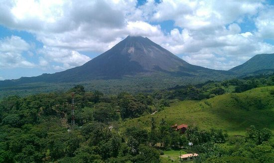 Hotel Linda Vista del Norte: view from arenal volcano