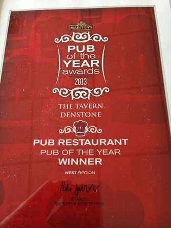 Denstone, UK: Pub of the Year 2013 Winner