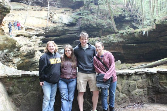 McArthur, OH: The gang at Old Man's Cave! (short drive from Lake Hope)