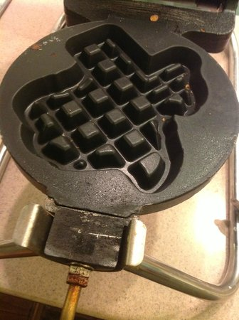 Inn of the Hills Resort &amp; Conference: Texas-shaped waffle maker at Inn of the Hills, Kerrville TX